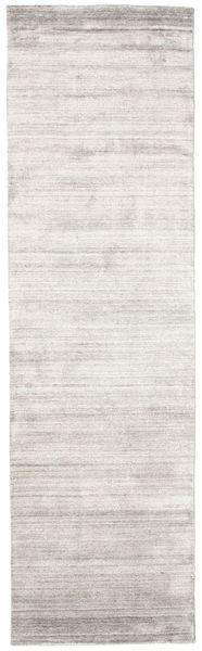 Μπαμπού Μετάξι Loom - Warm Γκρι Χαλι 80X300 Σύγχρονα Χαλι Διαδρομοσ Ανοιχτό Γκρι/Λευκό/Κρεμ ( Ινδικά)