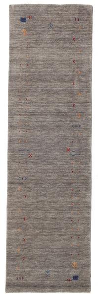 Γκάμπεθ Loom Frame - Γκρι Χαλι 80X300 Σύγχρονα Χαλι Διαδρομοσ Σκούρο Γκρι/Ανοιχτό Γκρι (Μαλλί, Ινδικά)
