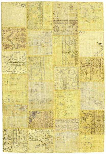 Patchwork Χαλι 158X233 Σύγχρονα Χειροποιητο Κίτρινος (Μαλλί, Τουρκικά)