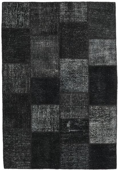 Patchwork Χαλι 158X232 Σύγχρονα Χειροποιητο Μαύρα (Μαλλί, Τουρκικά)