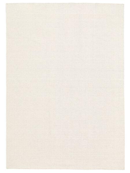 Κιλίμ Loom - Υπόλευκο Χαλι 200X300 Σύγχρονα Χειροποίητη Ύφανση Μπεζ/Σκούρο Μπεζ (Μαλλί, Ινδικά)