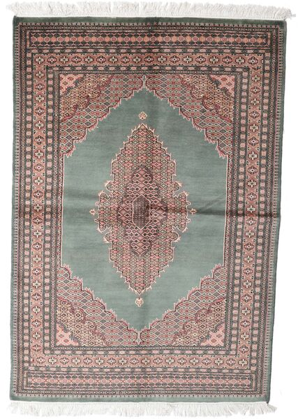 Pakistan Μπουχαρα 3Ply Χαλι 143X208 Ανατολής Χειροποιητο Σκούρο Γκρι/Λευκό/Κρεμ (Μαλλί, Πακιστανικά)