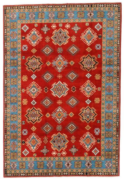 Kazak Χαλι 197X289 Ανατολής Χειροποιητο Στο Χρώμα Της Σκουριάς/Ανοιχτό Καφέ (Μαλλί, Αφγανικά)