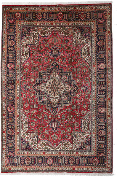 Tabriz Χαλι 197X297 Ανατολής Χειροποιητο Σκούρο Κόκκινο/Σκούρο Καφέ (Μαλλί, Περσικά/Ιρανικά)