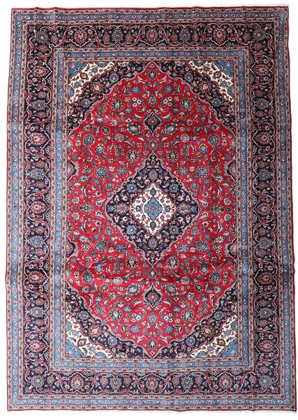 Keshan Χαλι 247X344 Ανατολής Χειροποιητο Σκούρο Μωβ/Ανοικτό Μωβ (Μαλλί, Περσικά/Ιρανικά)