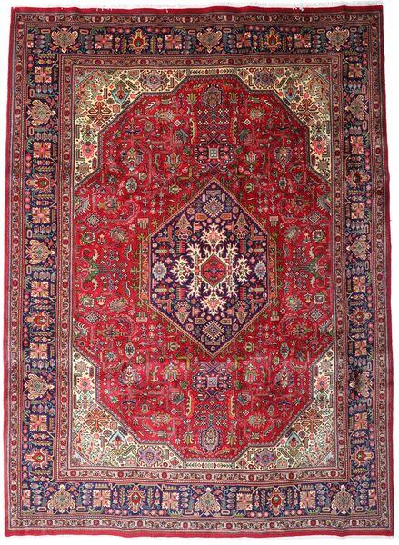 Tabriz Χαλι 258X354 Ανατολής Χειροποιητο Σκούρο Κόκκινο/Σκούρο Καφέ Μεγαλα (Μαλλί, Περσικά/Ιρανικά)