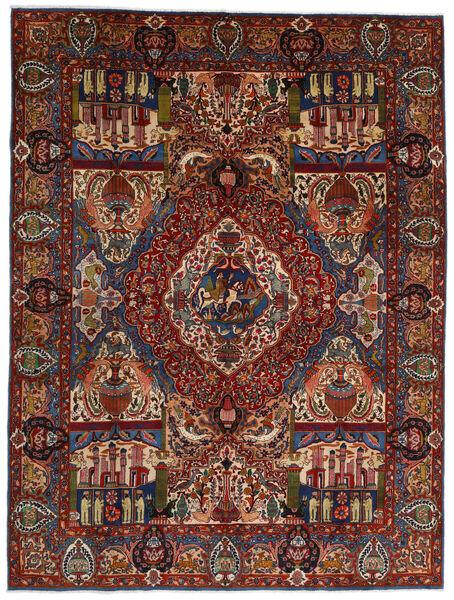 Kashmar Χαλι 293X391 Ανατολής Χειροποιητο Σκούρο Καφέ/Σκούρο Κόκκινο Μεγαλα (Μαλλί, Περσικά/Ιρανικά)