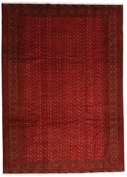 Turkaman Χαλι 248X340 Ανατολής Χειροποιητο Kόκκινα/Στο Χρώμα Της Σκουριάς (Μαλλί, Περσικά/Ιρανικά)