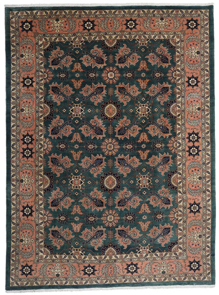 Ardebil Χαλι 295X393 Ανατολής Χειροποιητο Μαύρα/Σκούρο Κόκκινο Μεγαλα (Μαλλί, Περσικά/Ιρανικά)