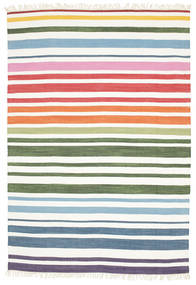Rainbow Stripe - White Χαλι 160X230 Σύγχρονα Χειροποίητη Ύφανση Λευκό/Κρεμ (Βαμβάκι, Ινδικά)