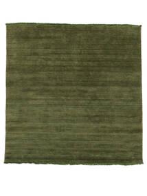 Χειροκίνητου Αργαλειού Fringes - Λαδί Χαλι 200X250 Σύγχρονα Λαδί/Σκούρο Πράσινο (Μαλλί, Ινδικά)