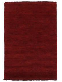 Χειροκίνητου Αργαλειού Fringes - Σκούρο Κόκκινο Χαλι 200X300 Σύγχρονα Kόκκινα (Μαλλί, Ινδικά)