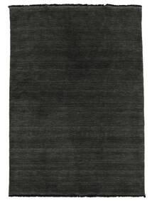 Χειροκίνητου Αργαλειού Fringes - Μαύρα/Γκρι Χαλι 140X200 Σύγχρονα Μαύρα (Μαλλί, Ινδικά)