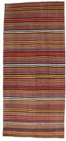 Κιλίμ Ημιπολύτιμα Λόγω Παλαιότητας Τουρκία Χαλι 180X391 Ανατολής Χειροποίητη Ύφανση Σκούρο Κόκκινο/Σκούρο Καφέ (Μαλλί, Τουρκικά)