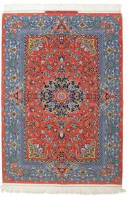 Isfahan Μεταξωτό Στημόνι Υπογράφεται: Haghighi Χαλι 150X220 Ανατολής Χειροποιητο Σκούρο Γκρι/Σκούρο Κόκκινο (Μάλλινα/Μεταξωτά, Περσικά/Ιρανικά)