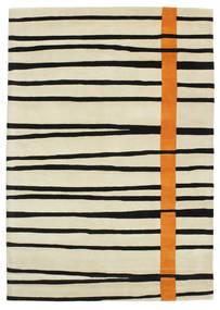 Gummi Twist Handtufted - Πορτοκαλί Χαλι 160X230 Σύγχρονα Σκούρο Μπεζ/Μπεζ/Μαύρα (Μαλλί, Ινδικά)