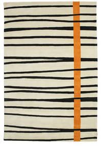 Gummi Twist Handtufted - Πορτοκαλί Χαλι 200X300 Σύγχρονα Σκούρο Μπεζ/Μαύρα (Μαλλί, Ινδικά)