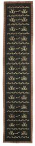 Κιλίμ Bulgarian Χαλι 174X850 Ανατολής Χειροποίητη Ύφανση Χαλι Διαδρομοσ Σκούρο Γκρι (Μαλλί, Βουλγαρία)
