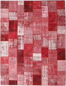 Patchwork Χαλι 302X399 Σύγχρονα Χειροποιητο Kόκκινα/Ανοιχτό Ροζ Μεγαλα (Μαλλί, Τουρκικά)