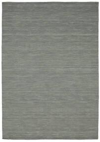 Κιλίμ Loom - Σκούρο Γκρι Χαλι 160X230 Σύγχρονα Χειροποίητη Ύφανση Ανοιχτό Γκρι/Σκούρο Πράσινο (Μαλλί, Ινδικά)