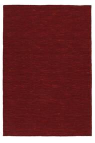 Κιλίμ Loom - Σκούρο Κόκκινο Χαλι 140X200 Σύγχρονα Χειροποίητη Ύφανση Kόκκινα (Μαλλί, Ινδικά)