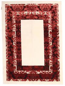 Himalaya Χαλι 150X210 Σύγχρονα Χειροποιητο Μπεζ/Σκούρο Κόκκινο ( Ινδικά)