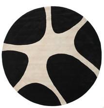 Stones Handtufted - Μαύρα Χαλι Ø 300 Σύγχρονα Στρογγυλο Μαύρα/Ανοιχτό Γκρι Μεγαλα (Μαλλί, Ινδικά)