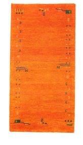Γκάμπεθ Indo Χαλι 73X143 Σύγχρονα Χειροποιητο Πορτοκαλί (Μαλλί, Ινδικά)