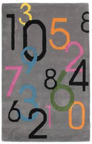 Lucky Numbers - Γκρι Χαλι 100X160 Σύγχρονα Σκούρο Καφέ/Σκούρο Γκρι (Μαλλί, Ινδικά)