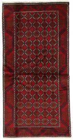 Beluch Χαλι 98X197 Ανατολής Χειροποιητο Σκούρο Κόκκινο (Μαλλί, Περσικά/Ιρανικά)