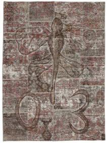 Patchwork Χαλι 174X240 Σύγχρονα Χειροποιητο Σκούρο Γκρι/Ανοιχτό Γκρι (Μαλλί, Περσικά/Ιρανικά)