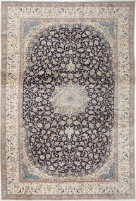 Nain 9La Χαλι 408X610 Ανατολής Χειροποιητο Ανοιχτό Γκρι/Σκούρο Γκρι Μεγαλα (Μάλλινα/Μεταξωτά, Περσικά/Ιρανικά)