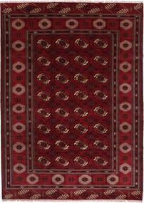 Turkaman Χαλι 208X287 Ανατολής Χειροποιητο Σκούρο Κόκκινο/Σκούρο Καφέ (Μαλλί, Περσικά/Ιρανικά)
