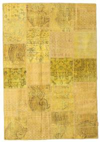 Patchwork Χαλι 158X231 Σύγχρονα Χειροποιητο Κίτρινος (Μαλλί, Τουρκικά)