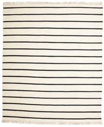Dorri Stripe - White/Μαύρα Χαλι 250X300 Σύγχρονα Χειροποίητη Ύφανση Μπεζ/Λευκό/Κρεμ Μεγαλα (Μαλλί, Ινδικά)
