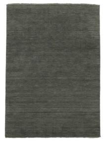 Χειροκίνητου Αργαλειού Fringes - Σκούρο Γκρι Χαλι 200X300 Σύγχρονα Σκούρο Γκρι (Μαλλί, Ινδικά)