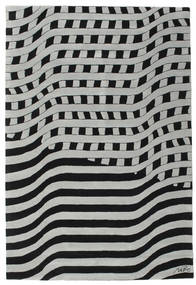 Passages Handtufted - Μαύρα/Γκρι Χαλι 200X300 Σύγχρονα Μαύρα/Ανοιχτό Γκρι/Τυρκουάζ Μπλε (Μαλλί, Ινδικά)