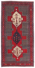 Senneh Πατίνα Χαλι 145X299 Ανατολής Χειροποιητο Σκούρο Καφέ/Kόκκινα (Μαλλί, Περσικά/Ιρανικά)