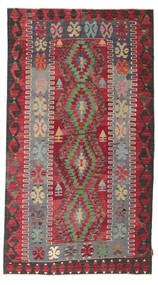 Κιλίμ Ημιπολύτιμα Λόγω Παλαιότητας Τουρκία Χαλι 155X279 Ανατολής Χειροποίητη Ύφανση Σκούρο Καφέ/Kόκκινα (Μαλλί, Τουρκικά)