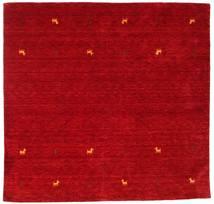 Γκάμπεθ Loom Two Lines - Κόκκινα Χαλι 200X200 Σύγχρονα Τετράγωνο Kόκκινα/Σκούρο Κόκκινο (Μαλλί, Ινδικά)