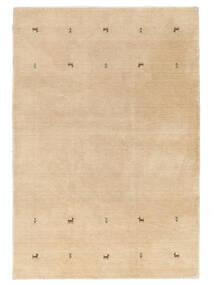 Γκάμπεθ Loom Two Lines - Μπεζ Χαλι 160X230 Σύγχρονα Σκούρο Μπεζ/Ανοιχτό Καφέ/Κίτρινος (Μαλλί, Ινδικά)