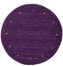 Γκάμπεθ Loom Two Lines - Μωβ Χαλι Ø 150 Σύγχρονα Στρογγυλο Σκούρο Μωβ (Μαλλί, Ινδικά)