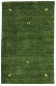 Γκάμπεθ Loom Two Lines - Λαδί Χαλι 100X160 Σύγχρονα Σκούρο Πράσινο (Μαλλί, Ινδικά)