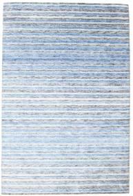Μπαμπού Μετάξι Χειροκίνητου Αργαλειού Χαλι 202X304 Σύγχρονα Χειροποιητο Ανοικτό Μπλε/Μπεζ ( Ινδικά)