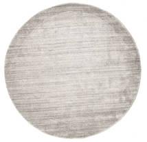 Μπαμπού Μετάξι Loom - Warm Γκρι Χαλι Ø 150 Σύγχρονα Στρογγυλο Ανοιχτό Γκρι ( Ινδικά)