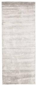 Μπαμπού Μετάξι Loom - Warm Γκρι Χαλι 80X200 Σύγχρονα Χαλι Διαδρομοσ Ανοιχτό Γκρι/Λευκό/Κρεμ ( Ινδικά)