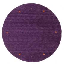 Γκάμπεθ Loom Two Lines - Μωβ Χαλι Ø 200 Σύγχρονα Στρογγυλο Σκούρο Μωβ/Μωβ (Μαλλί, Ινδικά)