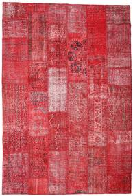Patchwork Χαλι 201X296 Σύγχρονα Χειροποιητο Kόκκινα/Στο Χρώμα Της Σκουριάς (Μαλλί, Τουρκικά)
