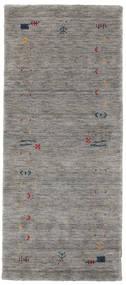 Γκάμπεθ Loom Frame - Γκρι Χαλι 80X200 Σύγχρονα Χαλι Διαδρομοσ Ανοιχτό Γκρι/Σκούρο Γκρι (Μαλλί, Ινδικά)