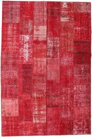 Patchwork Χαλι 201X298 Σύγχρονα Χειροποιητο Kόκκινα/Στο Χρώμα Της Σκουριάς (Μαλλί, Τουρκικά)